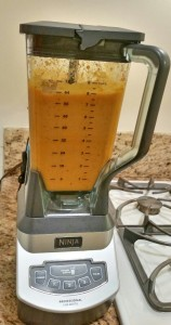 blended butternut squash soup