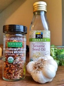 ingredients spicy garlic broccoli