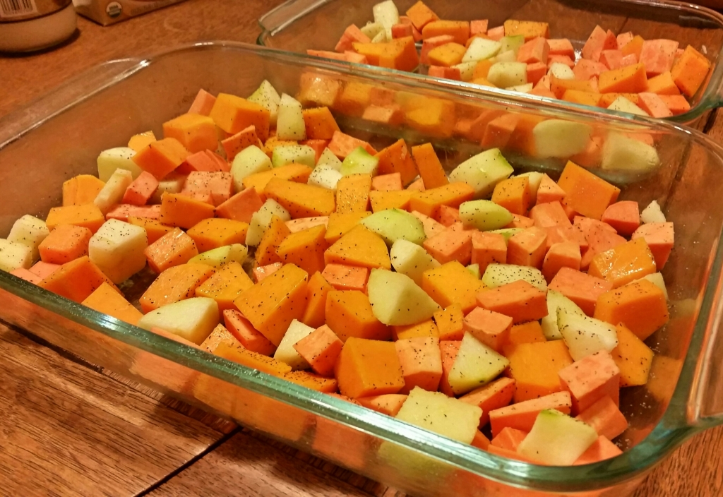 seasoned for roasting butternut squash apple sweetpotato