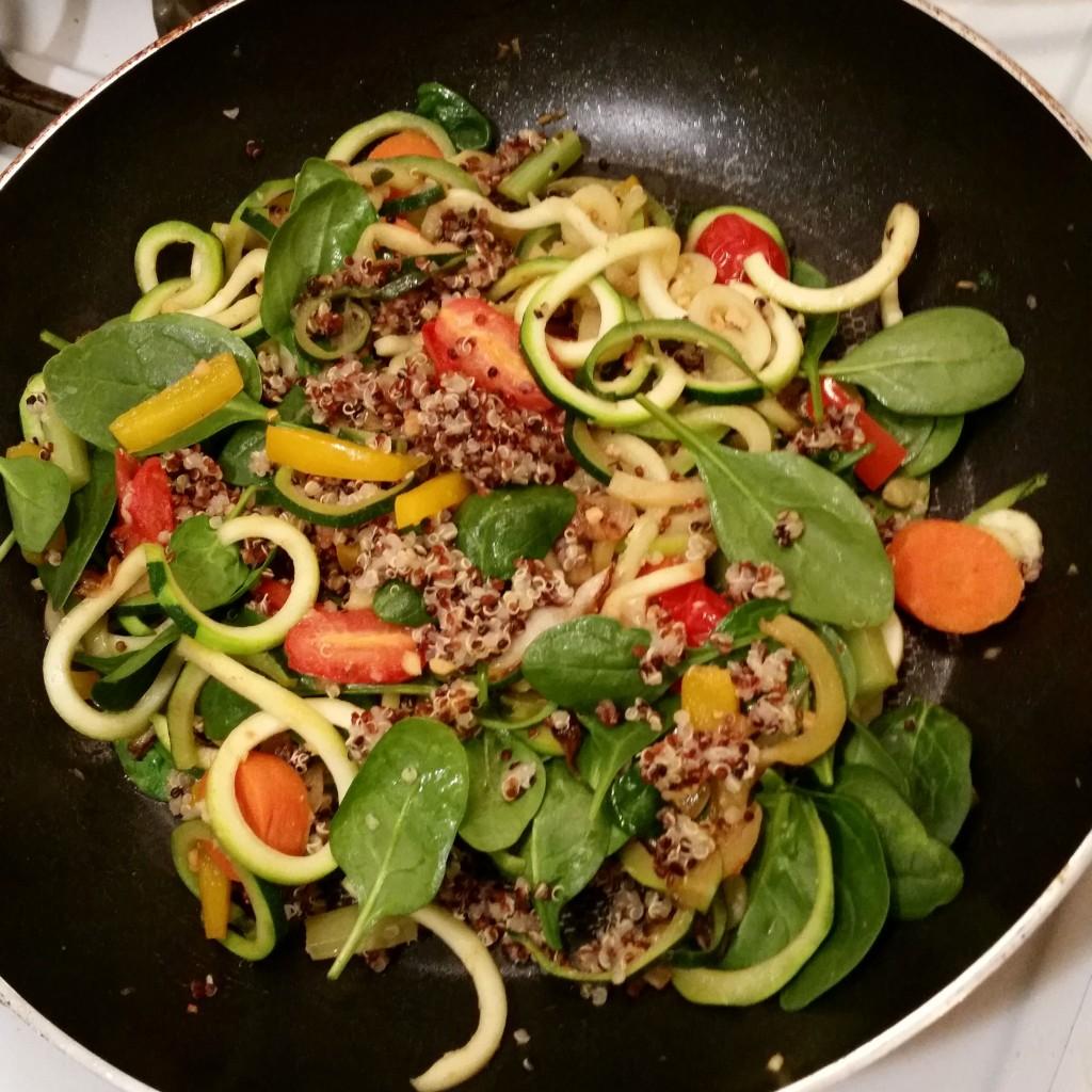 sauted veggies and quinoa