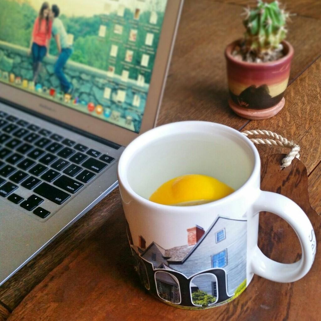warm water with lemon