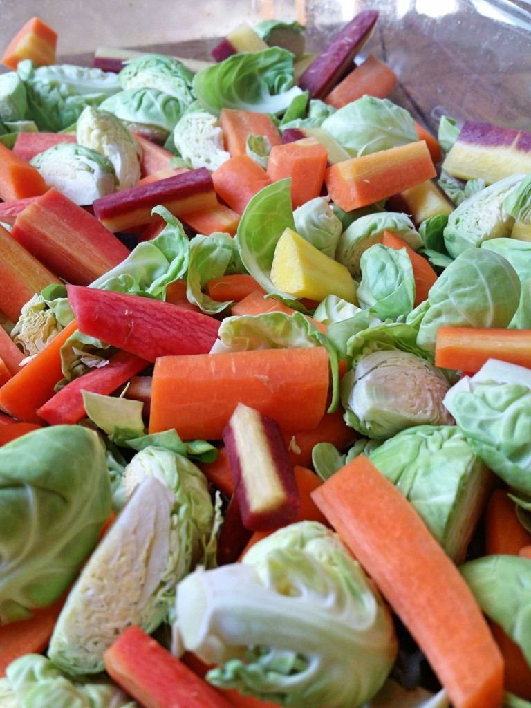 Chopped Brussels & Carrots - Roasted Brussels & Carrots - Clovers & Kale