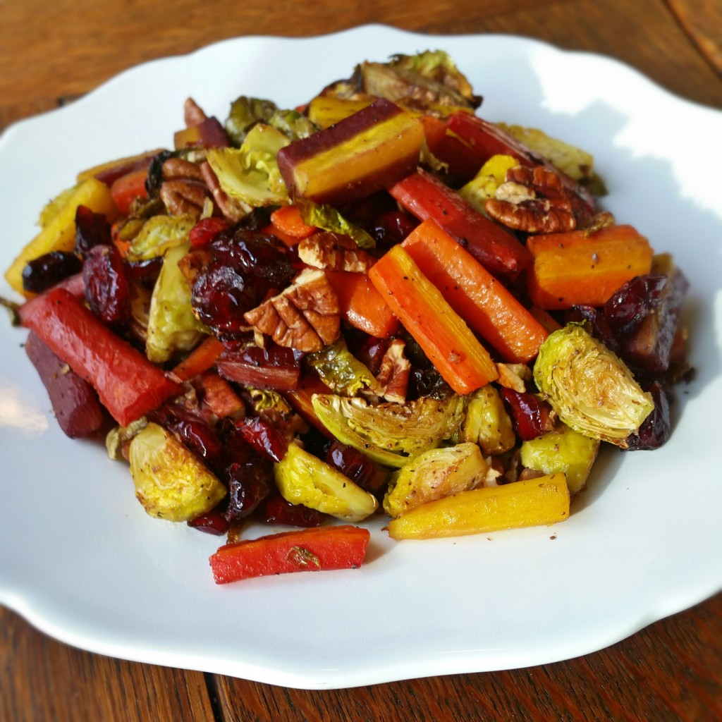 Roasted Brussels & Carrots - Side Dish - Clovers & Kale