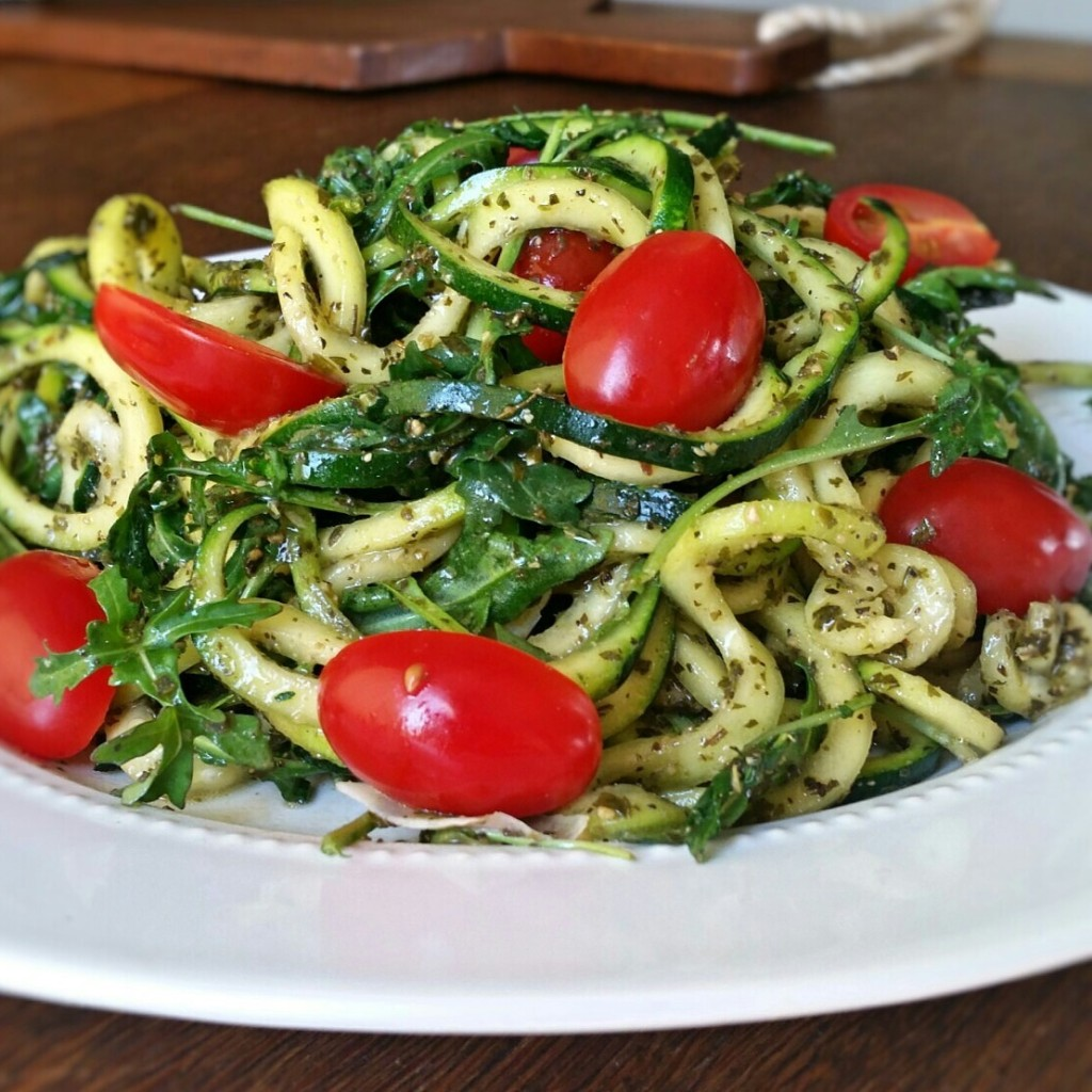 Clovers & Kale - Raw Pesto Zoodles - Recipe -