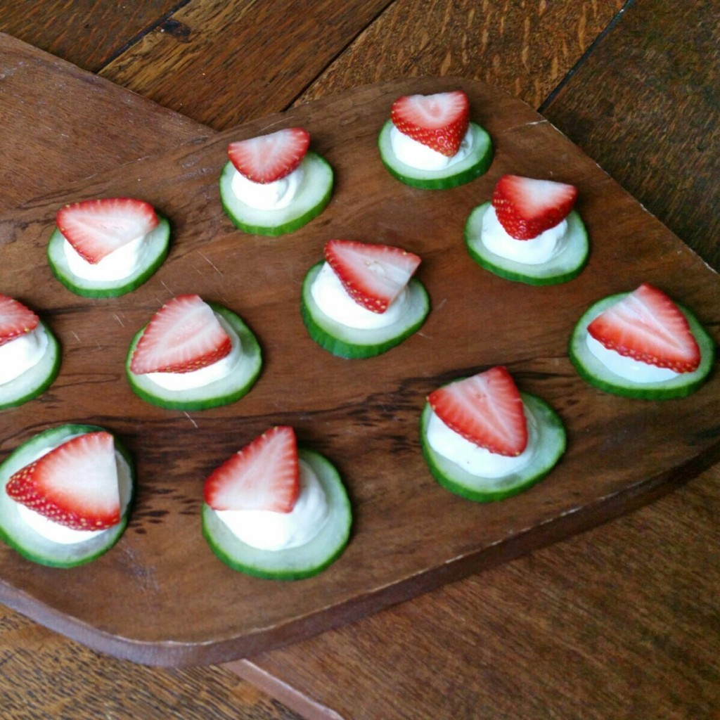 Cucumber + Fig Yogurt Bites - Recipe - Clovers & Kale