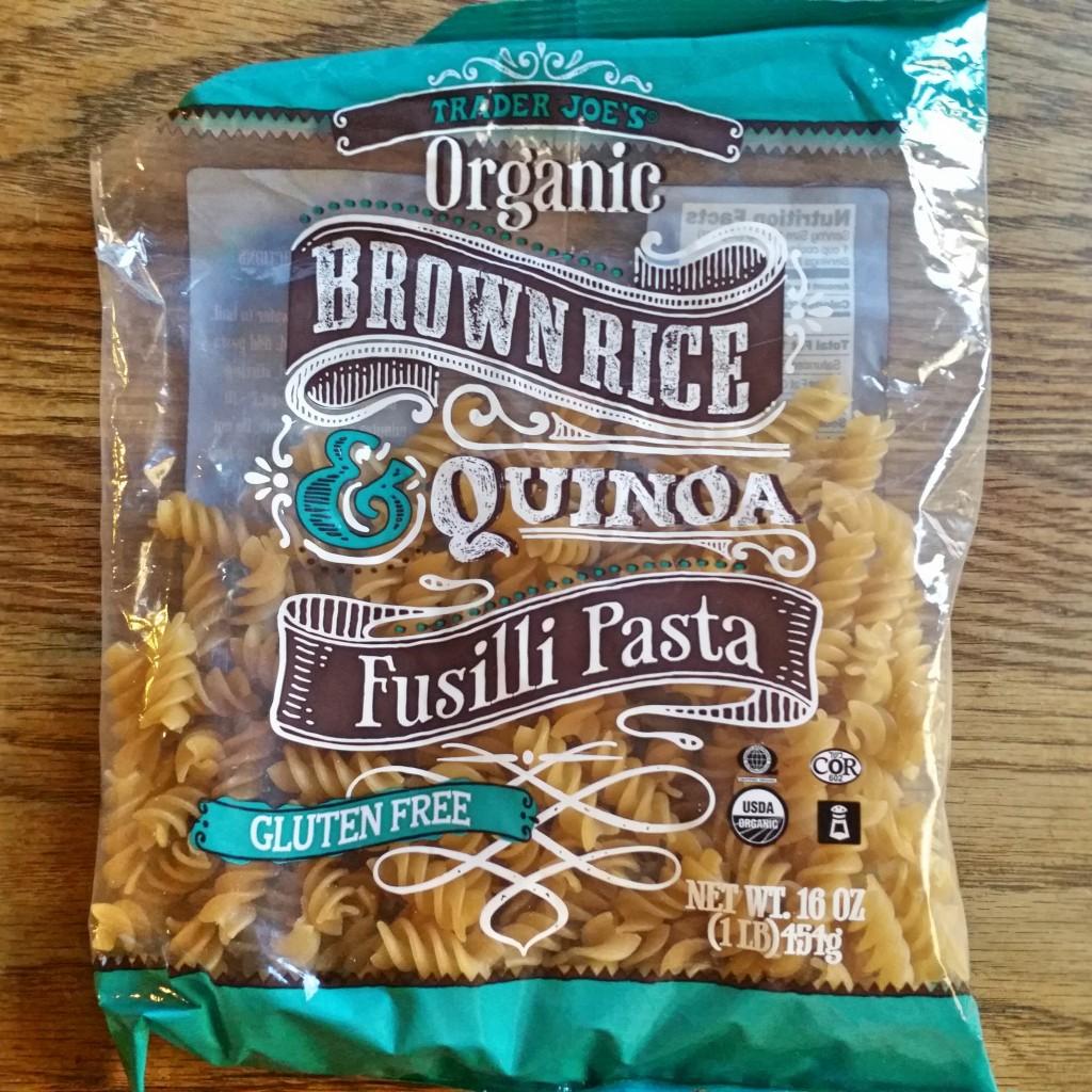 Vegetable Fusilli - Gluten Free - Clovers & Kale - Trader Joes Organic Brown Rice & Quinoa Fusilli Pasta