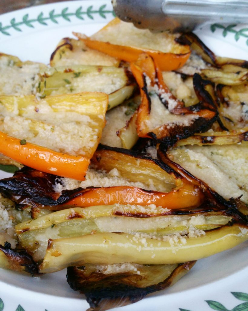 Parmesan Grilled Gypsy Peppers